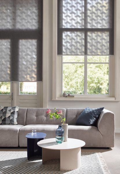 Luxaflex Roller Blinds in a Lounge by Mirmac