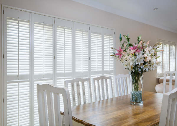 Dining Room Plantation Shutters in Warrington by Mirmac