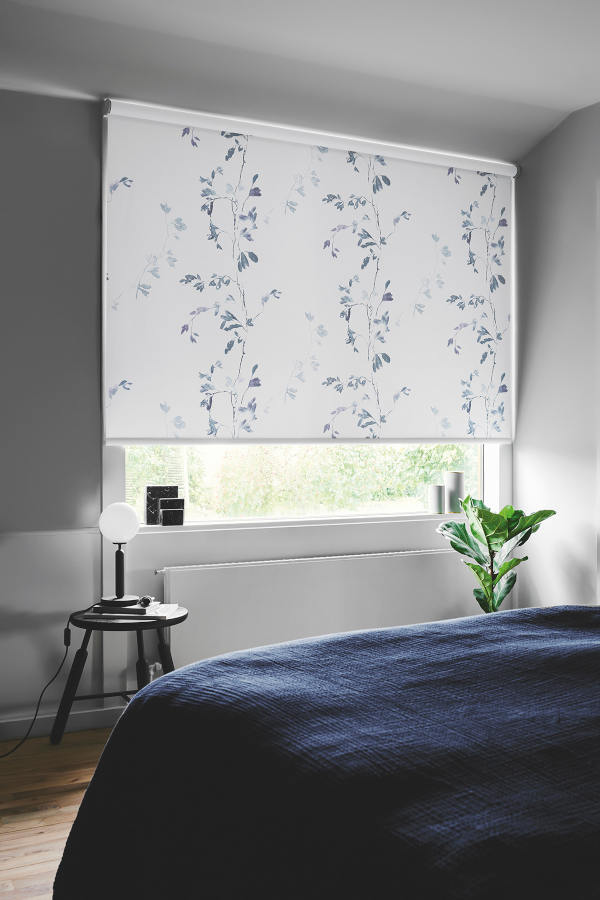 Roller Blinds in a Bedroom by Mirmac