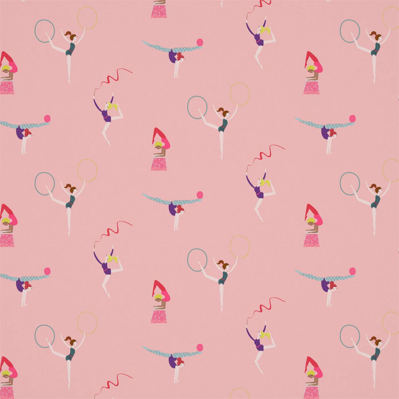'Balancing Act' - a new fabric and wallcovering by Harlequin, featuring dancers, ballerinas and gymnasts.