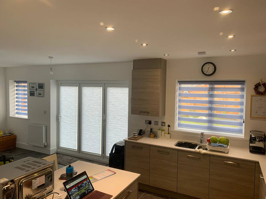 A kitchen diner with new window blinds