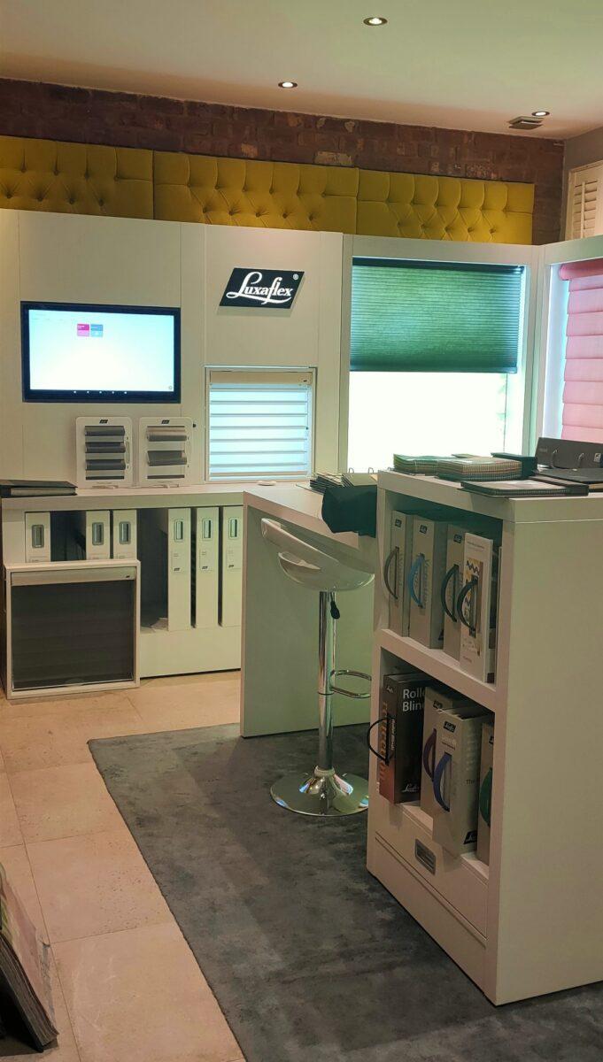 Luxaflex display at Mirmac Showroom, Warrington